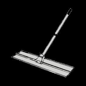 Sloda 1,5 m bred med fast skaft 3m (aluminium)